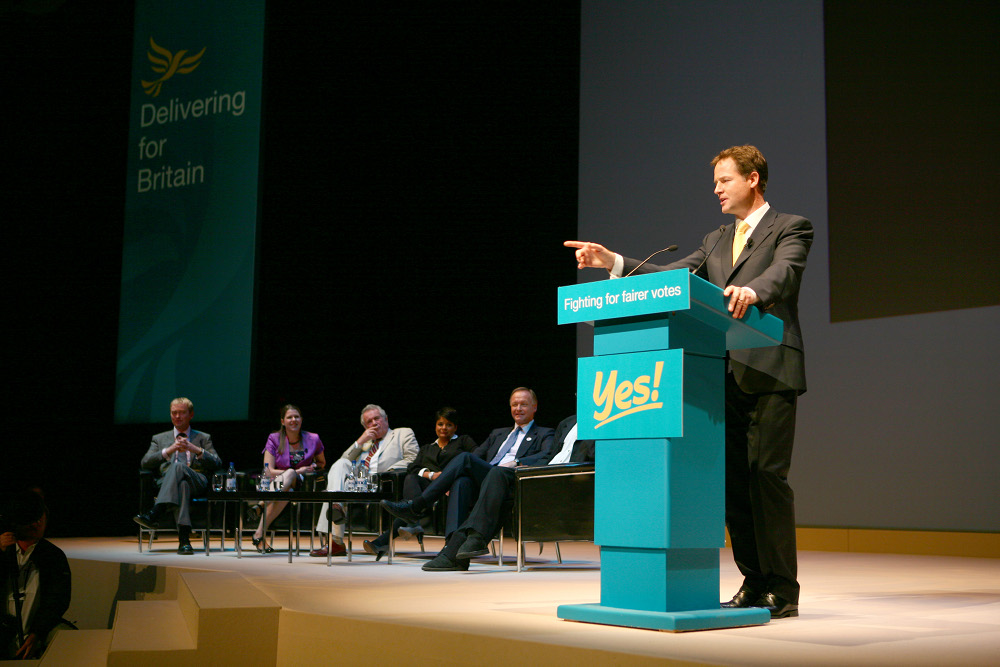 Nick Clegg rally image